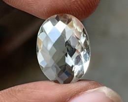 GREEN AMETHYST CHECKERED CUT Natural Gemstone VA318