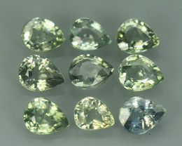 3.80 CTS GENUINE NATURAL EARTH MINED HEATED NICE COLOUR GREEN SAPPHIRE NR~