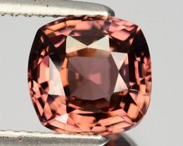 ~GLITTERING~ 2.92 Cts Natural Brownish Pink Zircon Cushion Cut Tanzania