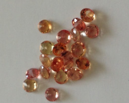 Parcel Padparadscha Sapphires 1.36 TCW