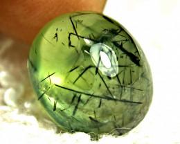 13.23 Carat Rutile African Prehnite - Gorgeous