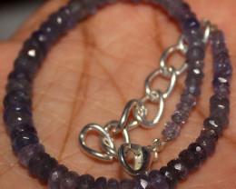 31 Crt Natural Tanzanite Faceted Opal Beads Bracelet 29
