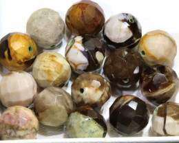 126.45 CTS PETRIFIED WOOD BEADS, (16PC)  NP-1013