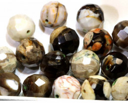 126.85 CTS PETRIFIED WOOD BEADS, (16 PC)  NP-1014