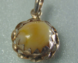Agate pendent ~ antique stone~ fantasy silver designs 19.50cts