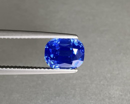 Kashmir Origin Unheated Fine Glowing Blue Sapphire 3ct - Cushion - SSEF Cer
