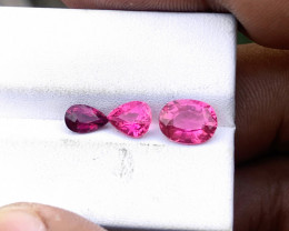 2.80 Ct Natural Rubellite Transparent Tourmaline Gems Parcels