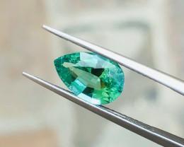 1.85 Ct Natural Blueish Transparent Tourmaline Gemstone