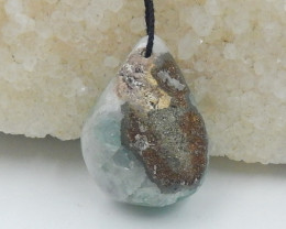 Pyrite pendant, raw fluorite with pyrite , hand cut gemstone , raw gemstone