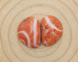 20.5cts Agate Gemstone Natural Agate Cabochon Pairs H078