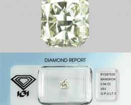0.54 Cts IGI Certified White Color