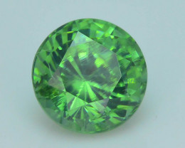 Rare 1.35 ct Green Zircon Great Luster Unheated Cambodia SKU.7