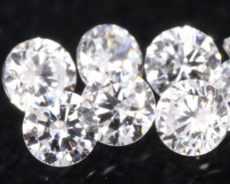 1.10mm 6Pcs D-F Color / VS Clarity Round Brilliant Cut Diamond