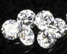 1.30mm 6Pcs D E F Color / VS Clarity Round Brilliant Cut Diamond