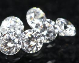 1.30mm 6Pcs D-F Color / VS Clarity Round Brilliant Cut Diamond