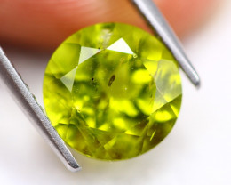 3.56ct Green Peridot Round Cut Lot V4928