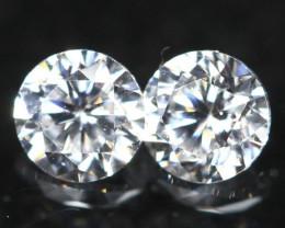 1.80mm Pair D-F VS Natural Round Brilliant Cut Diamond