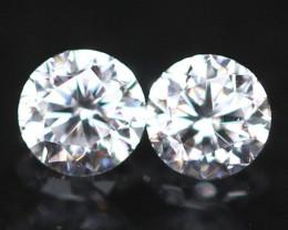 1.90mm Pair D-F VS Natural Round Brilliant Cut Diamond