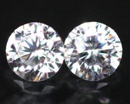 1.70mm Pair D-F VS Natural Round Brilliant Cut Diamond