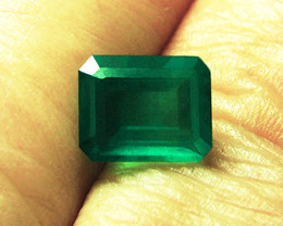 3.34 ct Natural Emerald Certified!