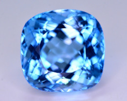 28.80 Ct Natural Fancy Pear Shape Blue Topaz Gemstone