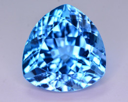 27.80 Ct Natural Fancy Pear Shape Blue Topaz Gemstone