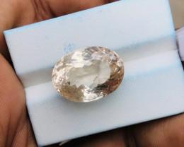 19.90 Ct Natural Brownish Transparent Topaz Gemstone