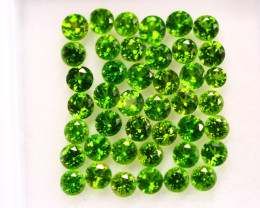 3.07Ct Natural Chrome Diopside Round Cut Lot LZB635