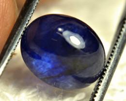 5.86 Carat Blue Sapphire Cabochon - Gorgeous