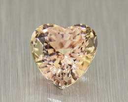 Natural Unheated Sapphire HEART .57ct ,well-cut, amazing brilliance (01601)