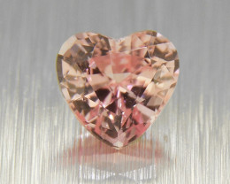 Natural Unheated PADPARADSCHA Heart  .39ct  well-cut & amazing brilliance (