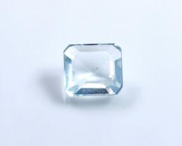 2.40ct Natural - - Unheated Blue Color Aquamarine Faceted Gemstone