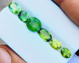 5.90 Ct Natural Greenish Transparent Tourmaline Gems Parcels