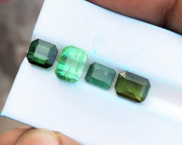 7.35 Ct Natural Greenish Transparent Tourmaline Gems Parcels