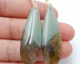 New Arrival Intarsia Earring Beads ,Labradorite,Amazonite Intarsia Earrings