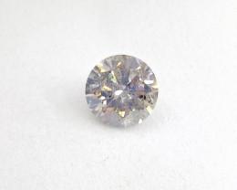 0.685ct Light White Gray Diamond , 100% Natural Untreated