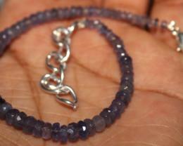26 Crt Natural Tanzanite Faceted Opal Beads Bracelet 31