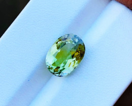 3.85 Ct Natural Yellowish Transparent Tourmaline Gemstone