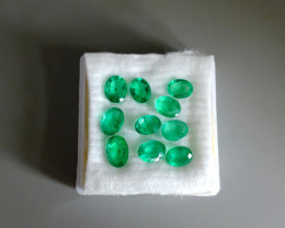 21.79ctw Colombian Emerald Parcel, Ovals, Clean