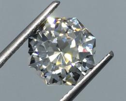 4.21 Carat VVS Topaz - Master Cut Diamond White Color Amazing Flash !