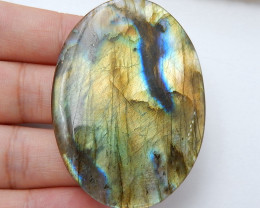 Natural Labradorite Oval Gemstone Cabochon, 54x39x4mm H7159