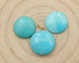 Round Turquoise ,Handmade Gemstone ,Turquoise Cabochons ,Lucky Stone D245