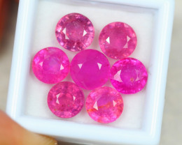 16.73ct Pink Ruby Round Cut Lot D87