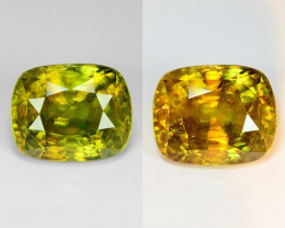 13.20 Natural Yellowish Green Color Sphene Gemstone