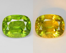9.75 Natural Yellowish Green Color Sphene Gemstone