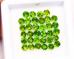 3.18Ct Natural Chrome Diopside Round Cut Lot LZ3818