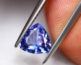 1.01Ct Natural Violet Blue Tanzanite Trillion Cut Lot LZB652
