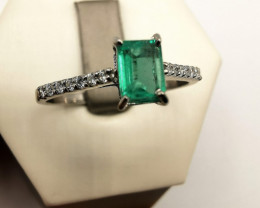 0,41ct Colombian Emerald 18k Solid Gold Ring Colombian Emeralds Colombian E
