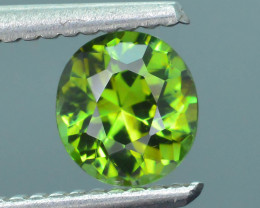 Rare 1.04 ct Green Zircon Great Luster Unheated Cambodia SKU.7