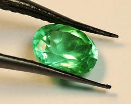 2.37 ct High-End Zambian Emerald Certified!